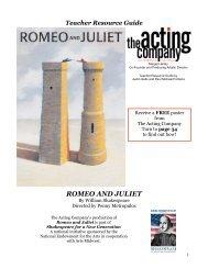 Romeo and Juliet (PDF) - Arizona Theatre Company