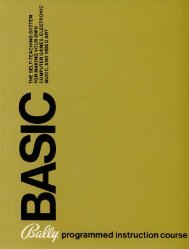Bally BASIC Manual - Bally Alley