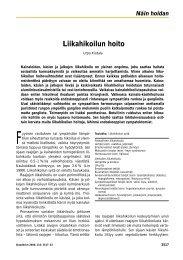 Liikahikoilun hoito - Terveyskirjasto