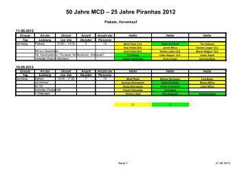 50 Jahre MCD – 25 Jahre Piranhas 2012 - Musikcorps Dorheim