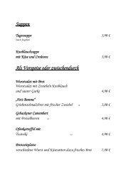 Auszug aus unserer Speisekarte - Sächsischen Schweiz ...
