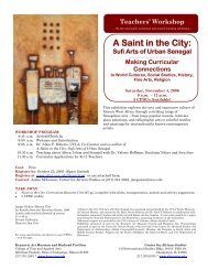 Teachers' Workshop on A Saint in the City - Center for African ...