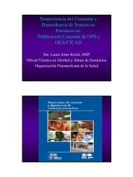 Neurociencia del Consumo y Dependencia de Sustancias ... - cicad
