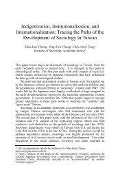 Indigenization, Institutionalization, and ... - Academia Sinica
