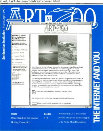 """""""Art to Zoo: The Internet and You"""" (PDF) - Smithsonian Education"""