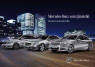 Mercedes-Benz som tjänstebil.