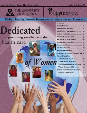 April 2012 Spring Issue - AHSC Office of Public Affairs - University of ...