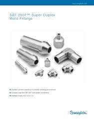 "SAF 2507â""¢ Super Duplex Weld Fittings (MS-01-173 ... - Swagelok"