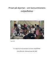 Priset på skjortan - om konsumtionens miljöeffekter - Kulturverkstan
