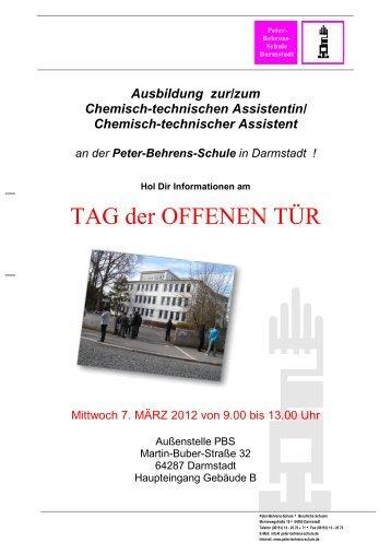 TAG der OFFENEN TÜR - Peter Behrens Schule