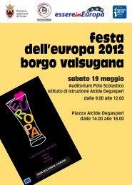 festa dell'europa 2012 borgo valsugana - Provincia autonoma di ...