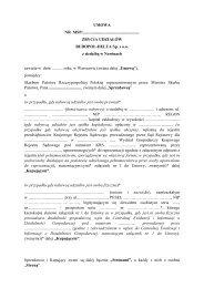 Treść umowy zbycia udziałów spółki BUDOPOL-DELTA Sp. z o.o. z ...