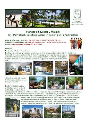 Vianoce a Silvester v Malajzii - Pan-Asia