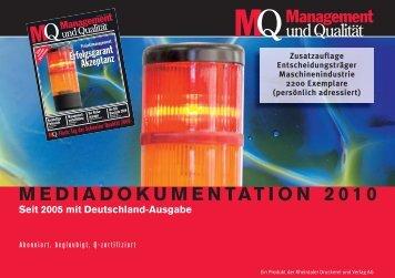 mediadokumentation 2010 - Rheintaler Druckerei und Verlag AG