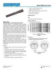 Model SM94 User Guide - J&H Licht en Geluid