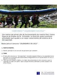 """CONCURSO """" CALENDARIO DS 2012 """""""