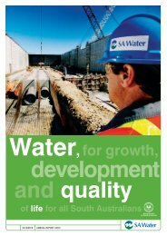 SA Water Annual report 2003