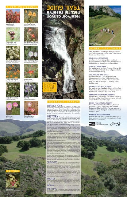 Reservoir Canyon Natural Reserve Trail Guide - the City of San Luis ...