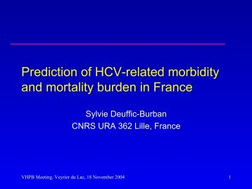 Prediction of HCV-related morbidity and mortality burden in France