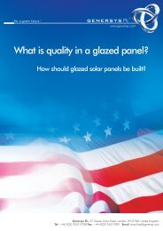 What is quality in a glazed panel? - Genersys