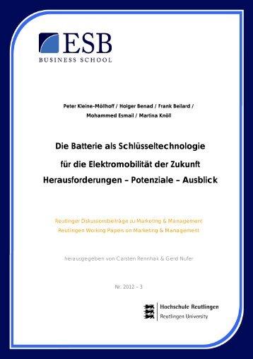 Die Batterie als Schlüsseltechnologie für die ... - ESB Business School