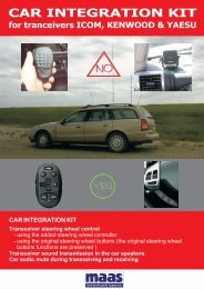 CAR INTEGRATION KIT Transceiver steering wheel control - Maas