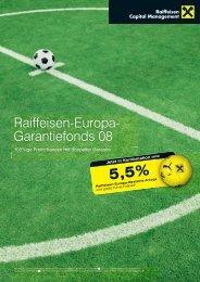 Raiffeisen-Europa- Garantiefonds 08