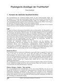 Physiologische Grundlagen der Fruchtbarkeit - Zentrale ... - Seite 5