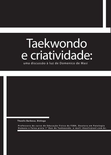 Taekwondo e criatividade: - Faculdade Social