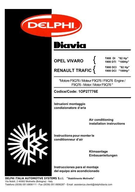 Opel Vivaro Renault Trafic Waeco Aircon Service