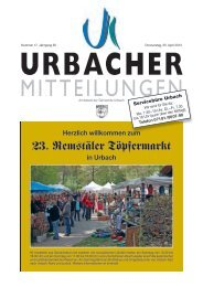 23. Remstäler Töpfermarkt - Gemeinde Urbach