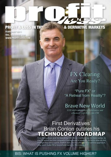 Brian Conlon Outlines His Technology Roadmap - First Derivatives plc