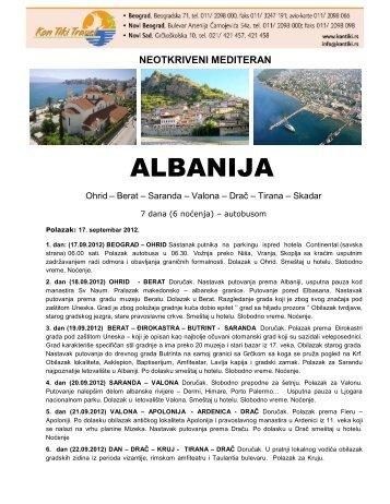 Albanija - 17.09.2012 - Kontiki