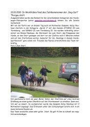 Bericht Dog-Cart - Schweizerischer Rottweiler Hunde Club