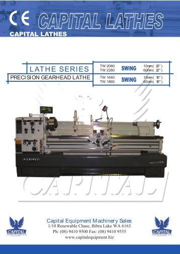 TW 2280 Brochure - Capital Equipment Machinery Sales