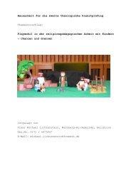 Playmobil in der religionspädagogischen Arbeit mit Kind