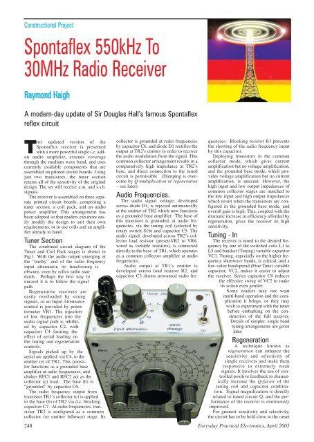 Spontaflex HF Radio Receiver - The Listeners Guide