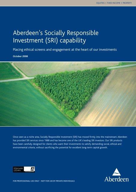 SRI - Aberdeen Asset Management