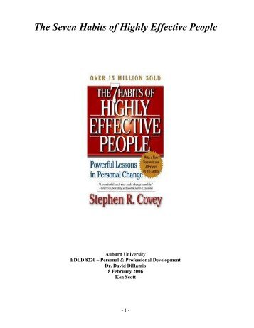 The Seven Habits of Highly Effective People - Knology.net