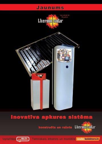 Inovatīva apkures sistēma Jaunums - sauleskolektors.lv