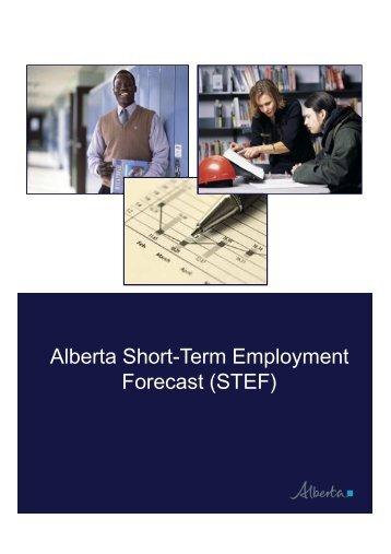 Short-Term Employment Forecast (STEF) - Government of Alberta