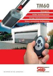 Prospekt des TM 60 - bei Seip Antriebstechnik GmbH