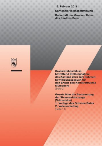 Botschaft - Kanton Bern