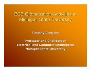Timothy Grotjohn, Professor and Chairperson, Electrical ... - ecedha