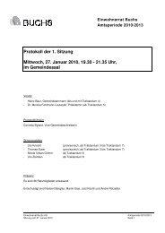 Protokoll 27. Januar 2010 - Gemeinde Buchs