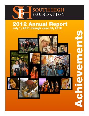 2012 Annual Report - Friends of South High