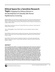Ethical Space for a Sensitive Research Topic - National Aboriginal ...