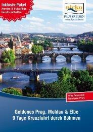 Goldenes Prag, Moldau & Elbe 9 Tage Kreuzfahrt durch Böhmen