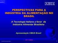 CRESCIMENTO DO CONSUMO DE ALIMENTOS - Federalimentare