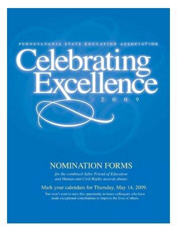 2009 ce form.qxp - Pennsylvania State Education Association